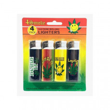 12 x 4Smoke 4 Pack Electronic Printed Lighters - DY007 - Design: Legalize It