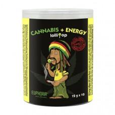 Euphoria Cannabis + Energy  Lollipops 12g x 10pcs (Approx)