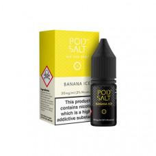 11mg Pod Salt - Flavoured 10ml Nicotine Salt (50VG/50PG) - Flavour: Banana Ice