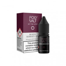 11mg Pod Salt - Flavoured 10ml Nicotine Salt (50VG/50PG) - Flavour: Mixed Berries Ice