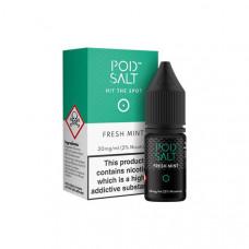 11mg Pod Salt - Flavoured 10ml Nicotine Salt (50VG/50PG) - Flavour: Fresh Mint