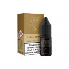 11mg Pod Salt - Flavoured 10ml Nicotine Salt (50VG/50PG) - Flavour: Cuban Creme