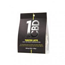 1CBD CBD infused Chocolate 300mg CBD 100g - Flavour: Twisted Latte