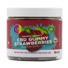 Orange County CBD 1200mg Gummies - Small Pack - Variety: Gummy Strawberries