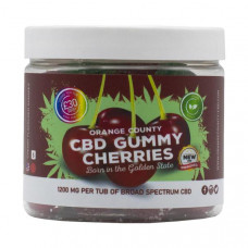 Orange County CBD 1200mg Gummies - Small Pack - Variety: Gummy Cherries