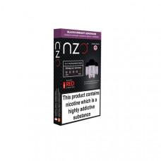 NZO 10mg Salt Cartridges with Red Liquids Nic Salt (50VG/50PG) - Flavour: Blackcurrant and Lemonade