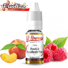 10 x 10ml UK Flavour Fizzy Range Concentrate 0mg (Mix Ratio 15-20%) - Flavour: Peach & Raspberry Fizzy