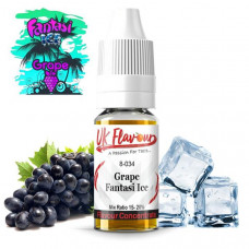 10 x 10ml  UK Flavour Fantasi Range Concentrate 0mg  (Mix Ratio 15-20%) - Flavour: Fantasi Grape Ice