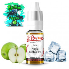 10 x 10ml  UK Flavour Fantasi Range Concentrate 0mg  (Mix Ratio 15-20%) - Flavour: Fantasi Apple Ice