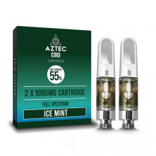 Aztec CBD 2 x 1000mg Cartridge Kit - 1ml - Flavour: Ice Mint