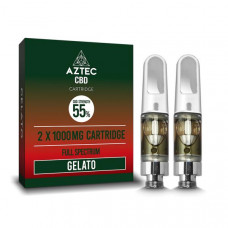 Aztec CBD 2 x 1000mg Cartridge Kit - 1ml - Flavour: Gelato
