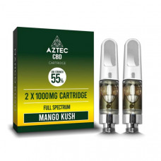 Aztec CBD 2 x 1000mg Cartridge Kit - 1ml - Flavour: Mango Kush