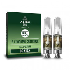 Aztec CBD 2 x 1000mg Cartridge Kit - 1ml - Flavour: O.G. Kush