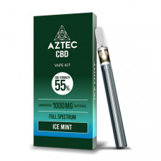 Aztec CBD 1000mg Vape Kit - 1ml - Flavour: Ice Mint