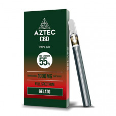 Aztec CBD 1000mg Vape Kit - 1ml - Flavour: Gelato