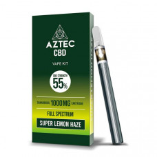 Aztec CBD 1000mg Vape Kit - 1ml - Flavour: Super Lemon Haze