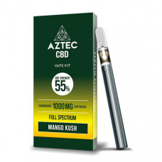 Aztec CBD 1000mg Vape Kit - 1ml - Flavour: Mango Kush