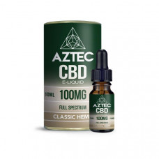Aztec CBD 100mg CBD Vaping Liquid 10ml (50PG/50VG) - Flavour: Classic Hemp