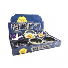6 x Collector Edition Mixed Design Glass Ashtrays - SA-8047