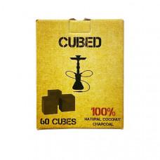 Cubed Shisha Hookah Coconut Charcoal (60 pieces)