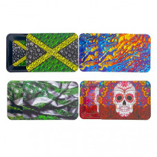 Medium Mixed Design Magnetic Metal Rolling Trays with Lid - Design: Animal