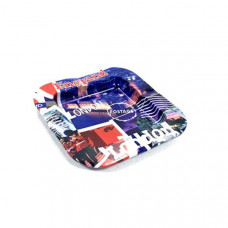 Square Metal Ash Tray - Mix Designs