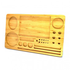 Extra Large Wooden Rolling Tray with Compartments - TRY-B428x260